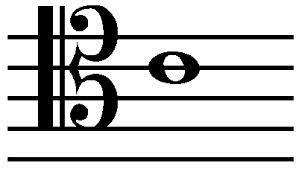 tenor clef c